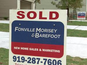 Sold sign, housing sales, home for sale