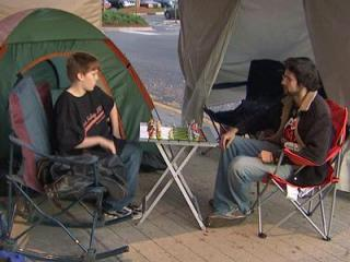 Shoppers started camping out on Nov. 23 - more than a day before Black Friday - in order to be first in line at the Best Buy at Cary Crossroads.