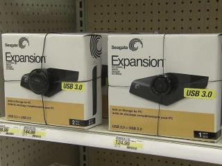 Internal and external hard drives cost more this December than they have in recent months.