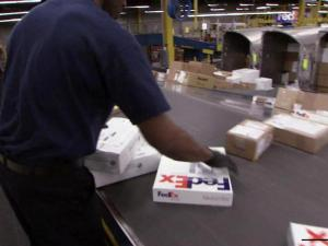 Holiday shipping rush at FedEx