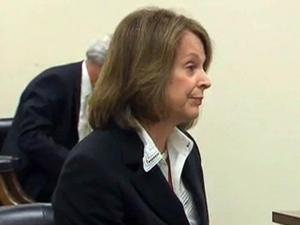 Duke Energy board member Ann Maynard Gray testifies to the N.C. Utilities Commission on July 20, 2012, about a management change at the company immediately after its merger with Progress Energy.