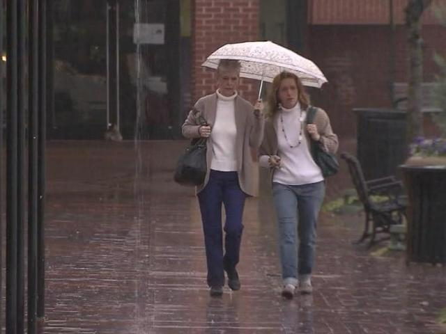 Mother-daughter duos braved the rain Wednesday to shop at Raleigh's Cameron Village.