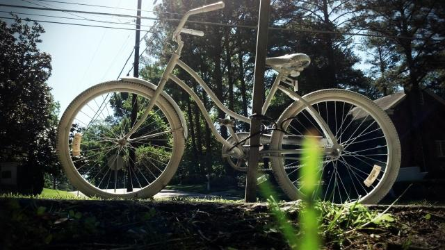 Ghost bike for Christopher Charles Mangum
