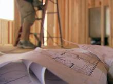 Home construction, blueprints