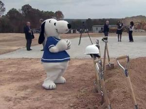 Snoopy joined Gov. Pat McCrory, U.S. Sen. Richard Burr and other state leaders to help MetLife officials break ground on the company's planned technology campus in Cary on Nov. 1, 2013.
