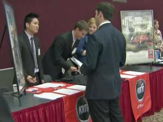 Hundreds of job seekers met with prospective employers at the Capital Area Career Expo.
