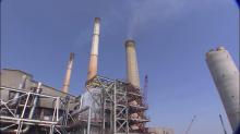 Power plant, smokestack
