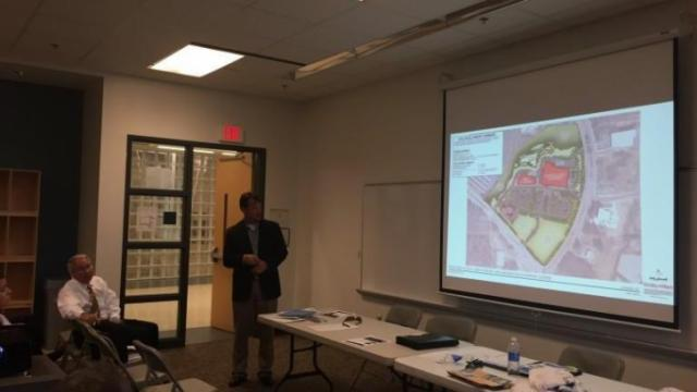 Richard Brown from Kimley Horn was on hand to discuss the new shopping center at this month's Southeast CAC Meeting (Photo by James Borden)