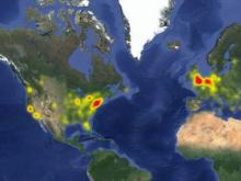 A map generated by downdetector.com showed Facebook offiline primarily in the northeast US and western Europe