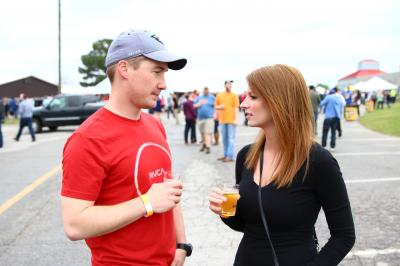 Beer fans gather at the NC State Fairgrounds for the 11th World Beer Fest in Raleigh. The World Beer Fest, which offers beer tastings, food trucks, music, and games, was held on April 2, 2016 in Raleigh North Carolina. (Photo by: Jerome Carpenter/WRAL Contributor)