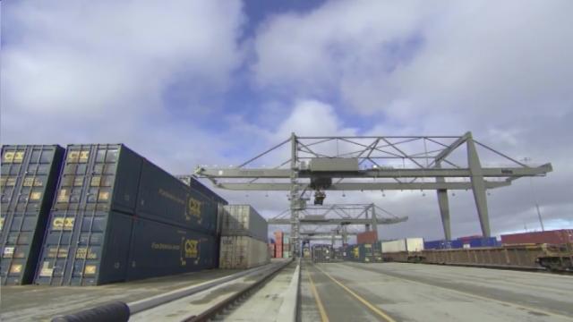 CSX cargo terminal