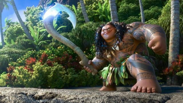 "MAUI is a demigod—half god, half mortal, all awesome. Charismatic and funny, he wields a magical fishhook that allows him to  shapeshift into all kinds of animals and pull up islands from the sea. Featuring Dwayne Johnson as the voice of Maui, Walt Disney Animation Studios' ""Moana"" sails into U.S. theaters on Nov. 23, 2016. ©2016 Disney. All Rights Reserved. (Deseret Photo)"