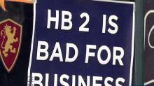 HB2 bad for business sign