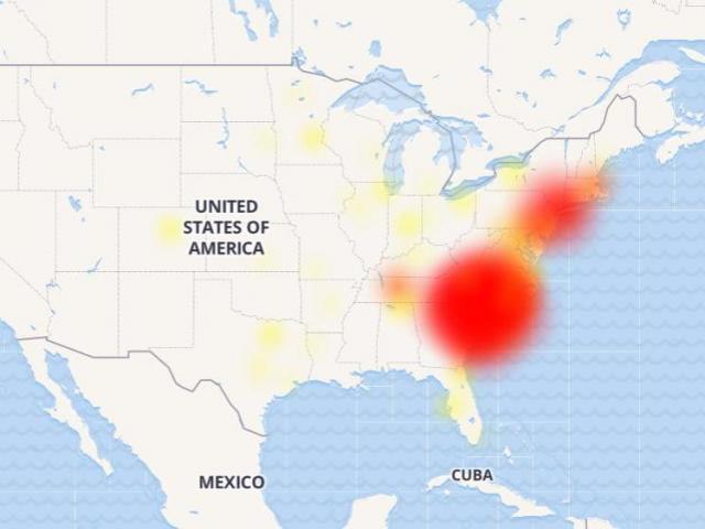 Down Detector Verizon outage map :: WRAL.com