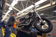 IMAGE: Harley Davidson stock plunges on weak sales forecast, layoffs ahead