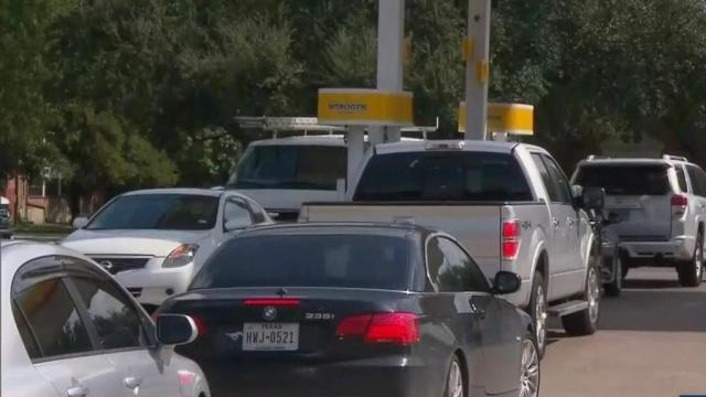 Gas prices, lines increase with shortage fears
