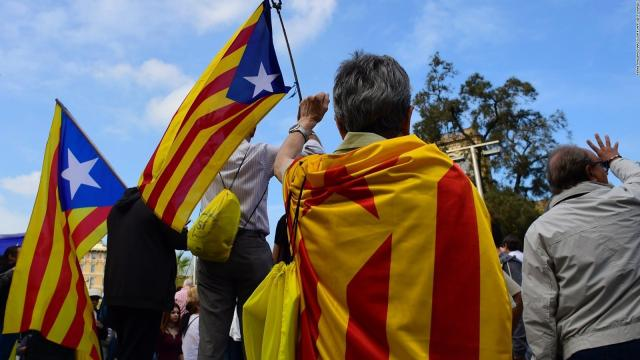 **This image is for use with this specific article only** Catalonia could lose two of Spain's biggest banks if political leaders in the region press ahead with a threat to declare independence.