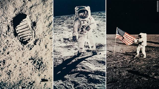 Three of the vintage NASA prints up for auction.