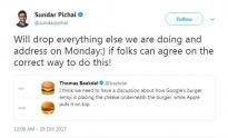 IMAGE: Google CEO addresses hamburger emoji debate