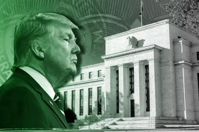 **This image is for use with this specific article only** The Federal Reserve kept things quiet before President Trump's big announcement. The central bank left its key interest rate unchanged at the end of a two-day meeting in Washington.