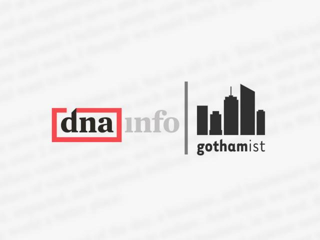 A week after they voted to unionize, journalists at DNAinfo and Gothamist learned that their websites have shut down.