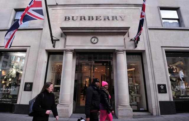 **This image is for use with this specific article only** Shares in Burberry dropped over 12% in London on Thursday after the company said that a costly strategy shift would prevent sales from growing until 2021.