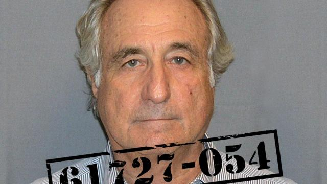 Bernie Madoff stole an estimated $20 billion from investors who thought he was running a legitimate Wall Street firm. He pleaded guilty in 2009 and was sentenced to 150 years in prison.