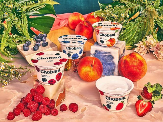 The new design for Chobani's Greek yogurt cups.