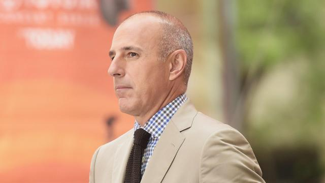 "**This image is for use with this specific article only.** Matt Lauer was fired from NBC News on Wednesday after an employee filed a complaint about ""inappropriate sexual behavior in the workplace,"" according to a statement from the network. Credit: Michael Locciasano/Getty Images"