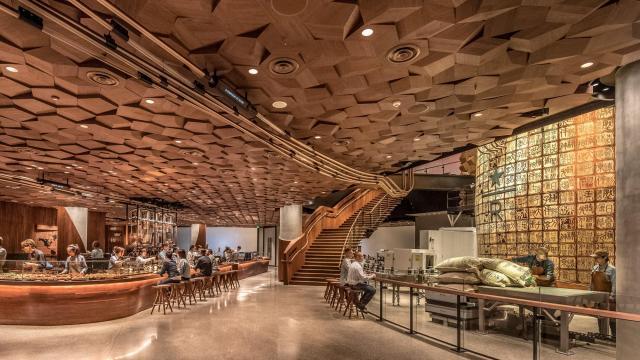 New Starbucks Reserve Roastery in Shanghai, China.
