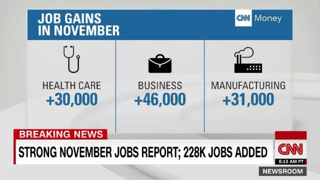 Americans got a boost to their paychecks in November. But the increase in wages remains frustratingly low given the health of the overall job market.