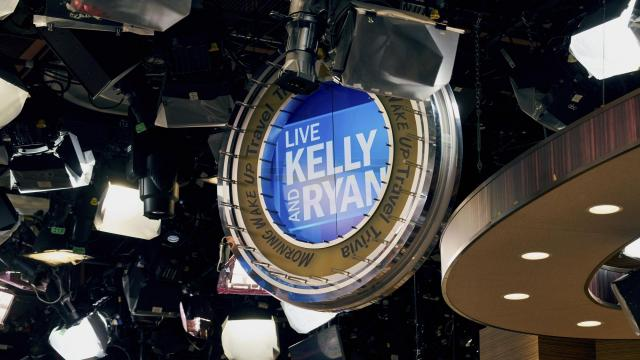 "A sign for ""Live with Kelly and Ryan"" in the studio in New York, Dec. 5, 2017. While the show's main competitor — NBC's ""Megyn Kelly Today"" — has leaned into weightier segments, ""Live"" has not wavered from a format that favors plenty of small talk between the hosts. (Vincent Tullo/The New York Times)"