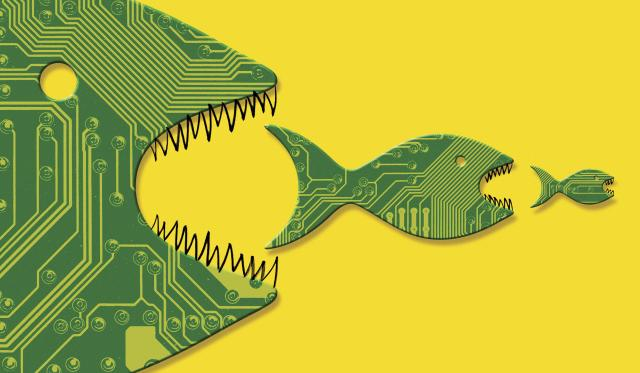The computer chip industry is now dominated by an aggressive set of chief executives who are quicker to push big acquisitions, slash costs and drive up profits. (Matt Chase/The New York Times) -- NO SALES; FOR EDITORIAL USE ONLY WITH COMPUTER CHIP EXECUTIVES BY DON CLARK FOR DEC. 18, 2017. ALL OTHER USE PROHIBITED. --