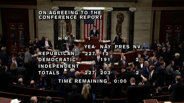 The House of Representatives approved the final version of the first overhaul of the US tax code in more than 30 years.