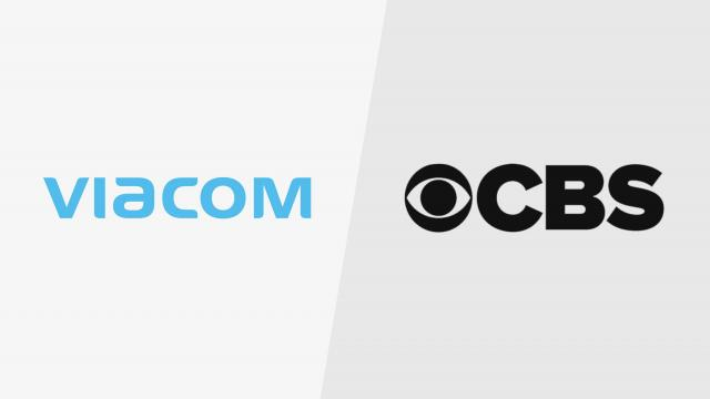 Shares in Viacom and CBS jumped Friday after a report that the media companies might be reunited once again with a merger.