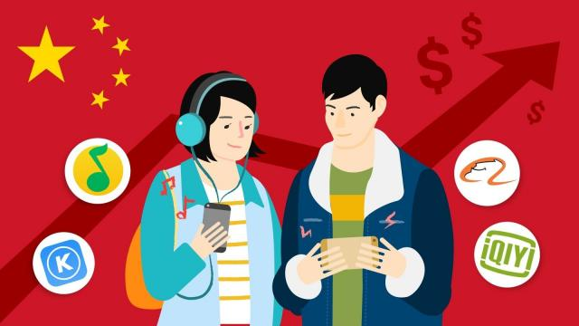 **This image is for use with this specific article only** Like many other parts of China's cloistered tech industry, domestic companies are reaping most of the profits from online content while foreign firms have faced difficulties.