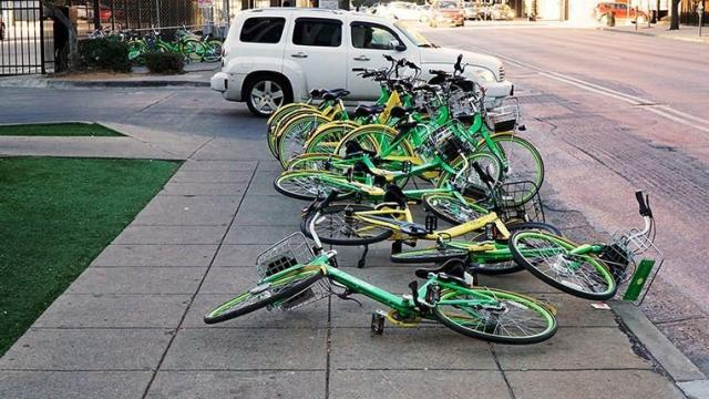 LimeBike and ofo, the two largest bikeshare operators in Dallas, describe vandalism as a minor problem.