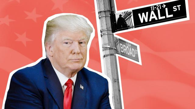 Wall Street is sending President Trump a message: Don't start a trade war. And lay off Amazon, one of the most important companies in America.