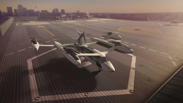 Uber released renderings of the rooftop skyports it envisions flying cars will land on.