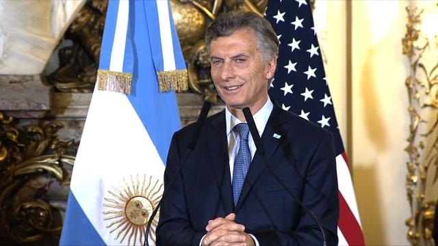 Argentina is in talks with the International Monetary Fund to obtain a credit line to help halt a free fall of the nation's currency.