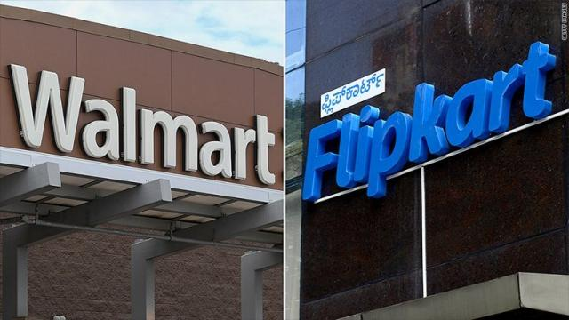 Walmart has agreed to buy India's leading online retailer Flipkart, paying $16 billion for a controlling stake of 77%.