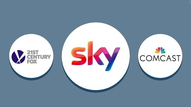 Comcast, Disney and 21st Century Fox have been vying to buy Sky to get new international exposure and help fend off challenges from tech upstarts such as Amazon and Netflix.