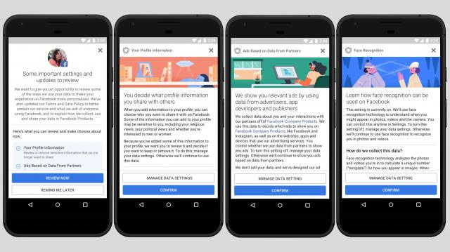 Over the next few weeks, Facebook users outside of Europe will see a notice that walks them through privacy settings and explains how the company collects data.