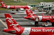 IMAGE: AirAsia stock plunges after India launches bribery probe