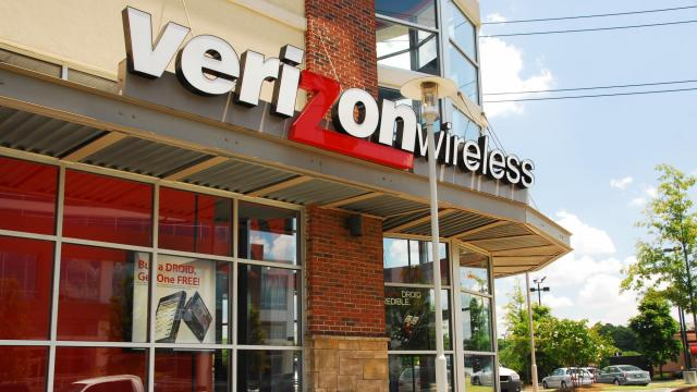 But there's one major name that has yet to join the latest round of merger madness: Verizon. (FILE)