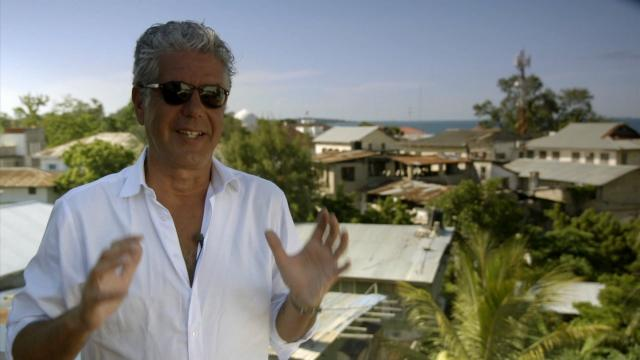 "Anthony Bourdain, a gifted storyteller and writer who took CNN viewers around the world, died at age 61. Bourdain is seen here in the CNN series ""Parts Unknown"" speaking in Tanzania."