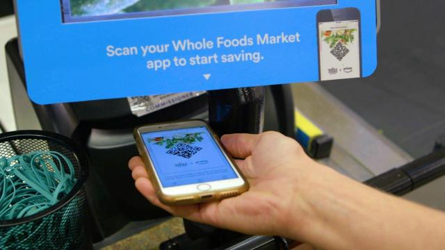 Prime members will be able to scan a QR code at the register to access Whole Foods discounts.