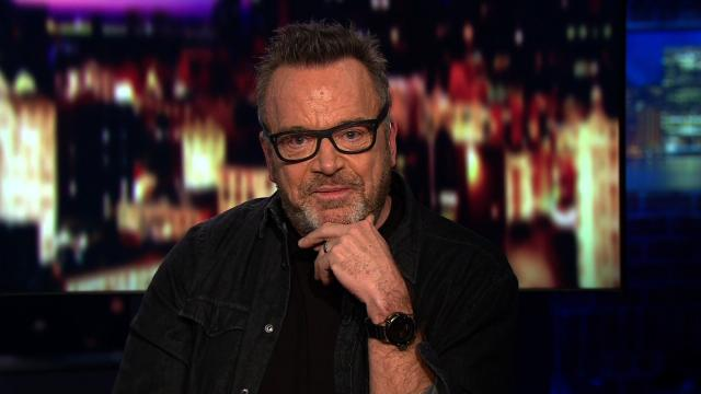 Actor Tom Arnold is seen here speaking to CNN. (FILE)