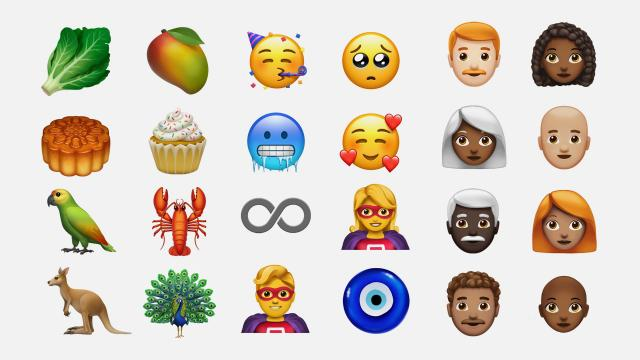 Apple previewed some of its 70 new emojis on Monday.
