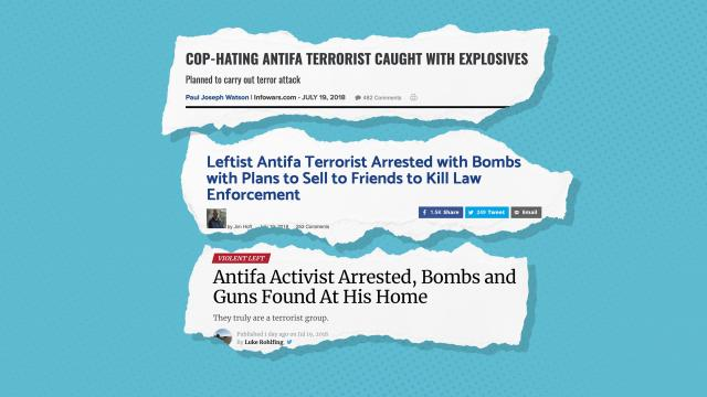 "Credit: The Gateway Pundit/Infowars/Washington Examiner/CNN Money (Photo Illustration) Headlines from a variety of right-leaning outlets asserted that Einerwold was a member of ""Antifa,"" the radical anti-fascist group that has reportedly been accused of domestic terrorism by the Department of Homeland Security ."